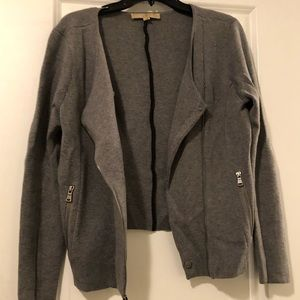 Loft merino wool knit moto jacket size L